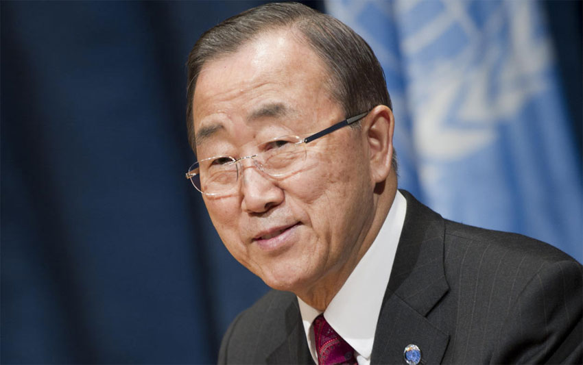 Honorable secretary general of the United Nations Ban Ki-moon